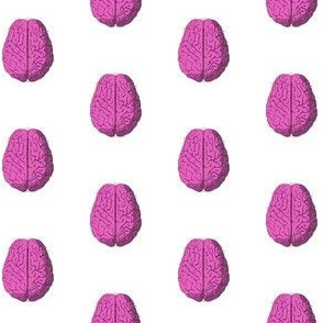 Pink Zombie Brain Polka Dot