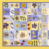 2016 Calendar blue yellow squares