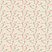 Candy Cane Fabric Kraft Paper
