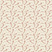 Candy Cane Fabric Kraft Paper