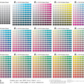 CMYK color chart part 1.2 - 1794 colors!
