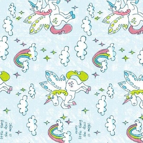 Magic Unicorns Pillowcase - Cut and Sew