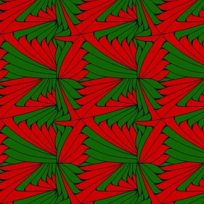 Zentangle Red and Green
