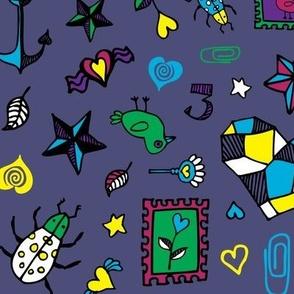 Beetle Doodle - Slate