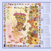 2016 Garden Angel Calendar Towel