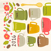 2016 Coffee Tea Towel