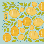 2016 Citrus Tea Towel Calendar - Robin's Egg