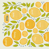2016 Citrus Tea Towel - Beige