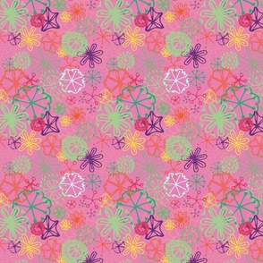 Abstract Poppy Pink