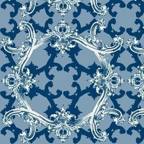 Rococo Swag ~ Agamemnon Blue and White ~ IV