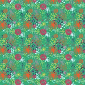 Abstract Poppy Green