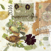 2016 Birds calendar tea towel