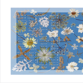 2017 Blue and White Garden Calendar Tea Towel