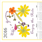 2016 Bike Calendar Tea Towel