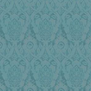 Acorn Empire Blue Brocade