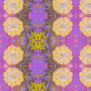 Yellow Cactus #1 Art Nouveau