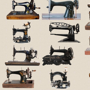 Vintage Sewing Machine Wall