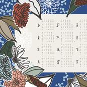 Vintage Garden Tea Towel Calendar