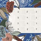 Vintage Garden Tea Towel Calendar 2017
