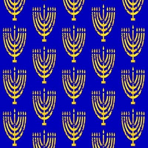 Menorah Lemon Tree on Navy NOT royal blue!
