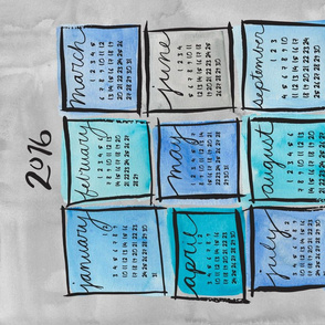 Watercolor Blocks 2016 Calendar