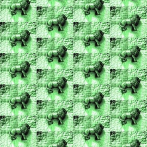 Lions on Quilt Green