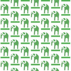 Marching Elephants Moss Green