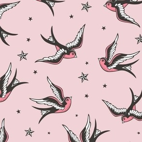 Swallow on Pink