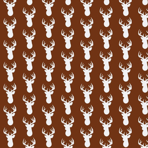 Deer Silhouette in White on Brown