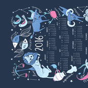 2016 Zodiac Tea Towel Calendar