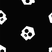 hex geometric halloween skull