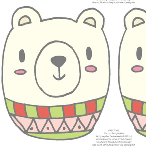 CUTE WINTER BEAR PILLOW