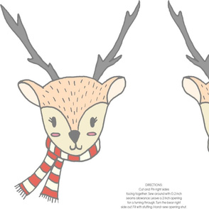 CUTE WINTER REINDEER PILLOW