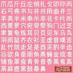 Chinese Alphabet 2