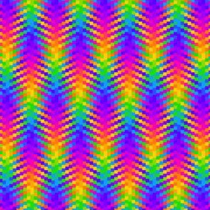 Wavy Rainbow Plaid 1