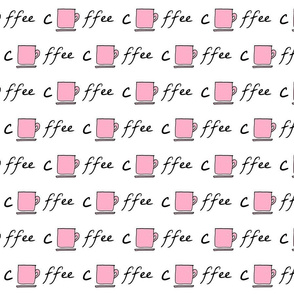 Cup of coffee - pink-rounded