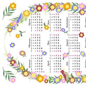 2016 Floral Wreath Calendar
