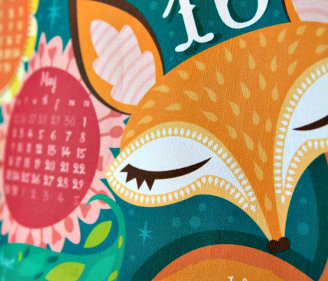 Hello Fox, Hello Squirrel 2016 Tea Towel