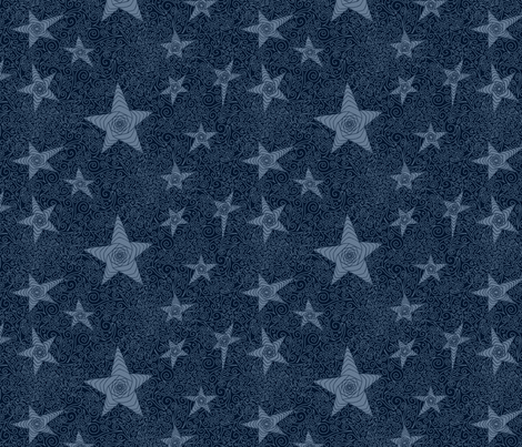 Starry blue sky giftwrap inspired me studio spoonflower for Starry sky fabric