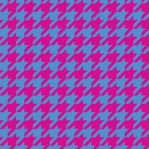 houndstooth-blue and pink