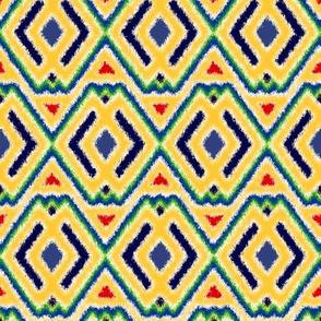 Double Diamond Ikat Style