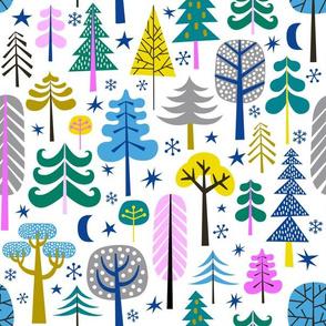 moonlight forest - white