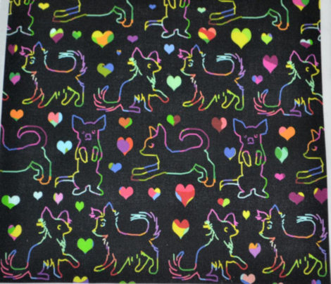 Rainbow Love Scratchboard Chihuahuas