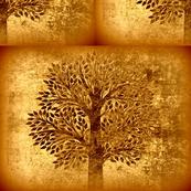 Golden copper tree