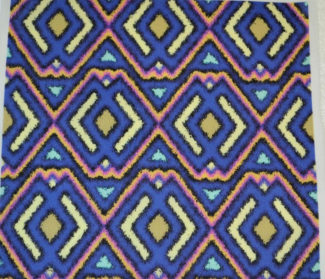 Double Diamond Ikat Royal Blue