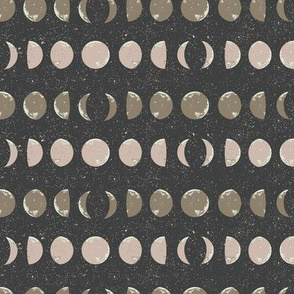 Moon Phase Stripes in Charcoal
