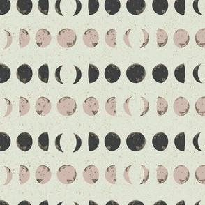 Moon Phase Stripes in White