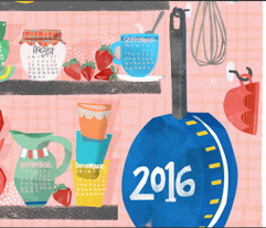 Kitchen Cupboard Tea Towel 2016