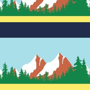 Twin Peaks Sheriff Department Mountain Border