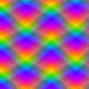 Wavy Rainbow Plaid 2